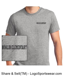 Unisex Adult Nowlin Elementary Embroidered T-Shirt Design Zoom