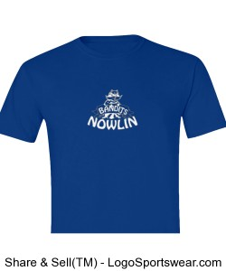 Youth Blue and White Nowlin Bandit shirt Design Zoom