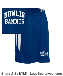 Mens Muscle Dri-Gear Basketball Short Design Zoom